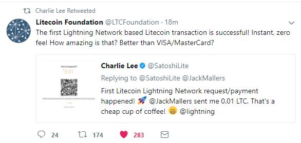 Litecoin Lightning network live