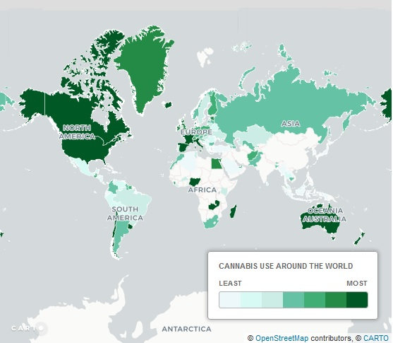 cannabis consumption per country