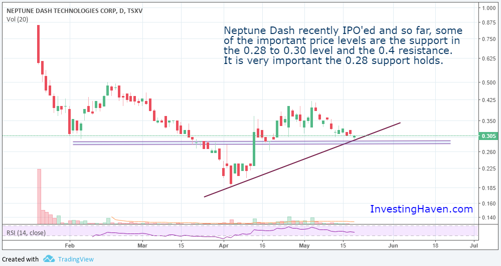 Neptune Dash blockchain stock