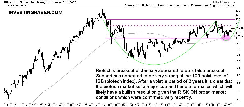 biotech stocks bullish 2018